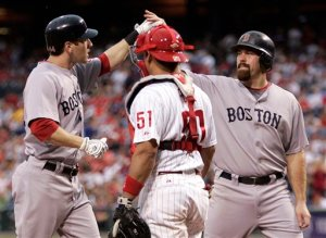 Youk and Bay fist bump